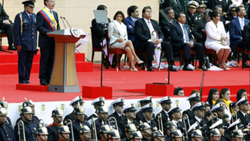 Investidura de Santos presidente de Colombia