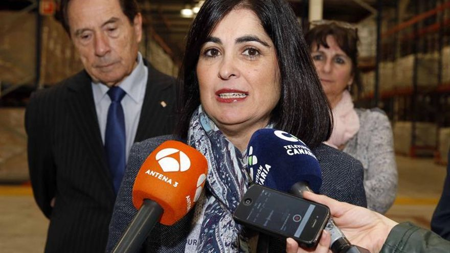 La presidenta del Parlamento de Canarias, Carolina Darias. EFE/Elvira Urquijo A.