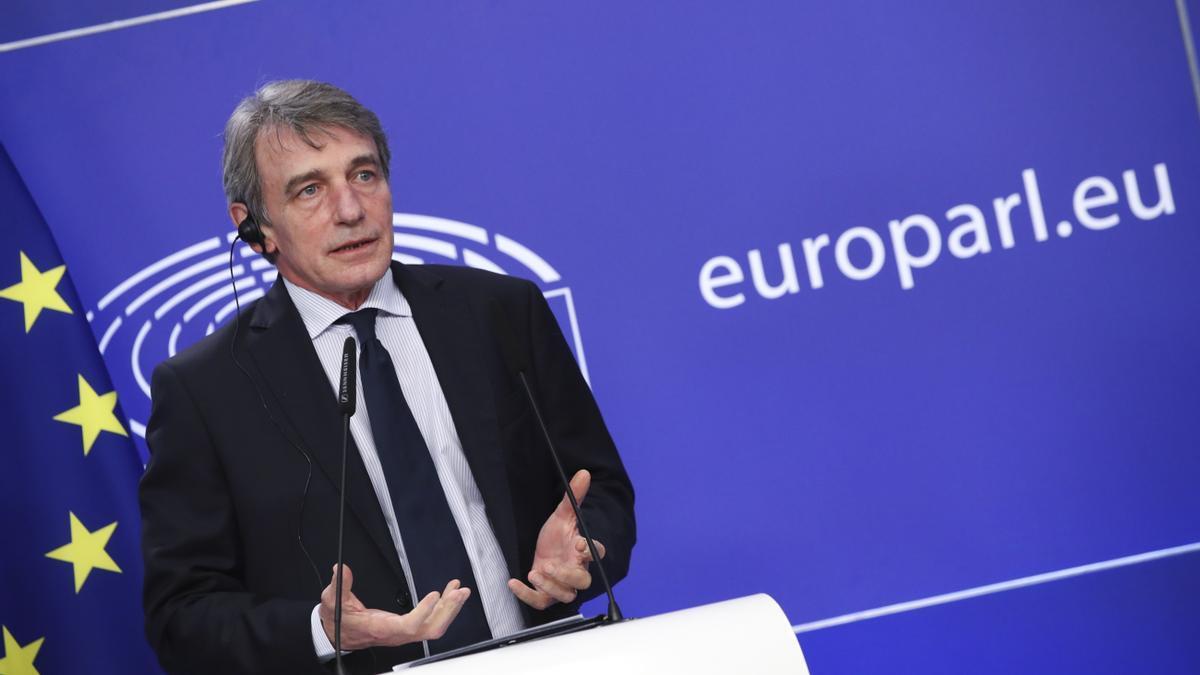 El presidente del Parlamento Europeo, David Sassoli. EFE/EPA/YVES HERMAN / Archivo