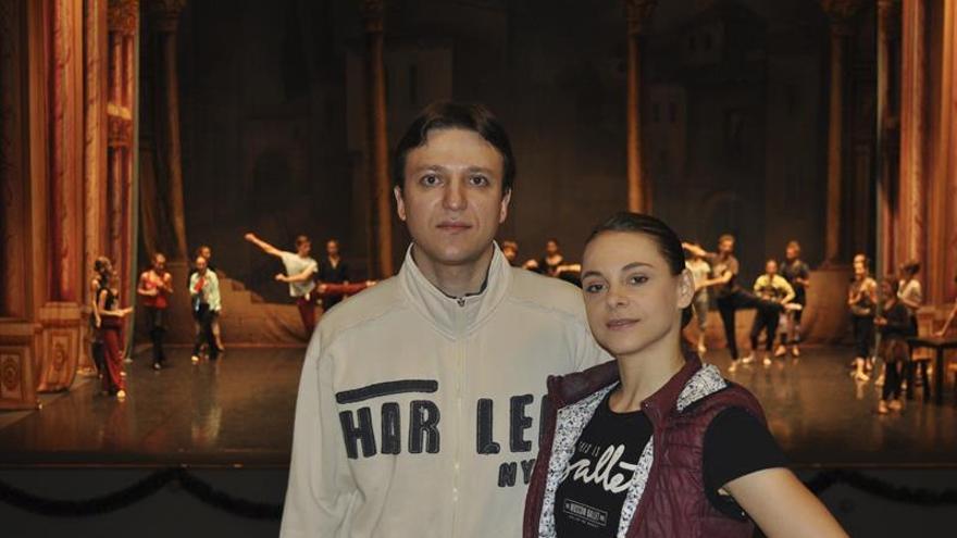 Los solistas Cristina y Alexei Terentiev valoran la acogida del ballet de Moscú en España