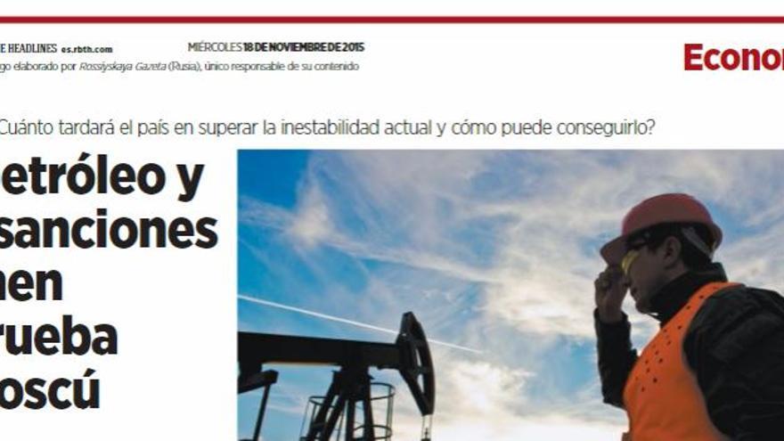 Titular de RBTH sobre el petróleo