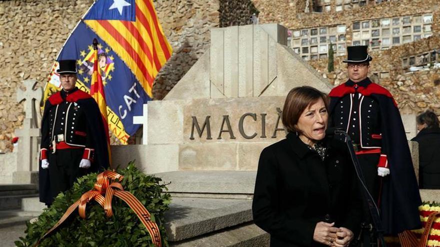 Forcadell pide que catalanes puedan expresarse con igual libertad que el Rey