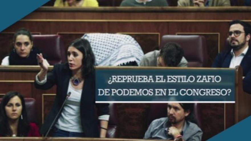 La pregunta de 13TV sobre el estilo de Podemos