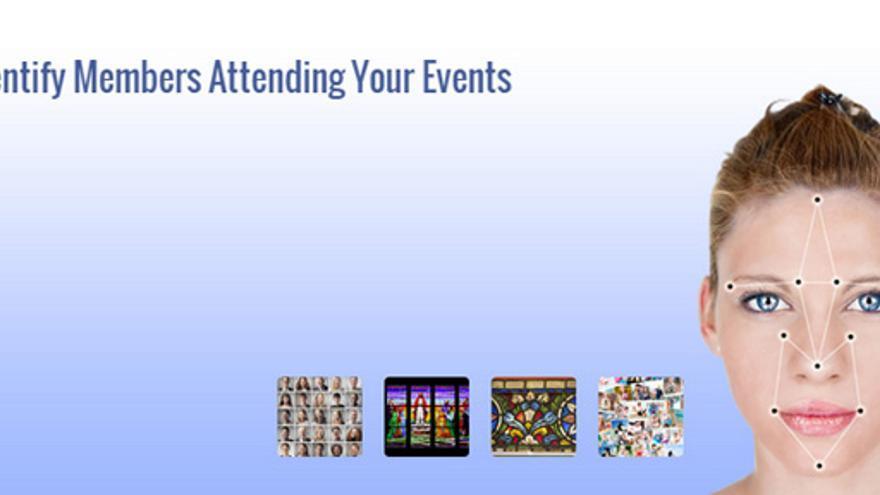 Página web de la empresa Face-Six que ofrece reconocimiento facial en eventos