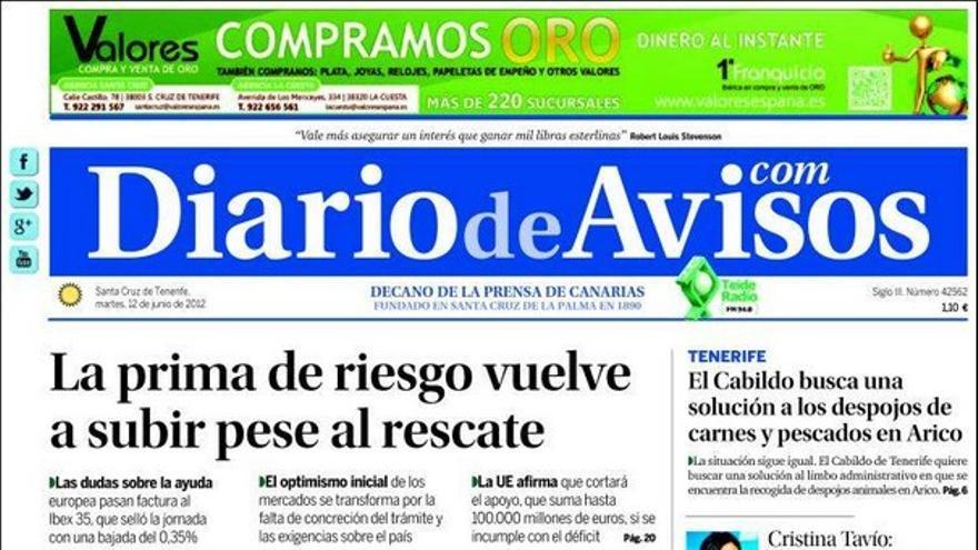 De las portadas del día (12/06/2012) #3