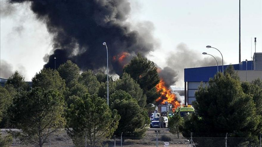 Defensa confirma diez muertos en el accidente del F-16 griego en Albacete