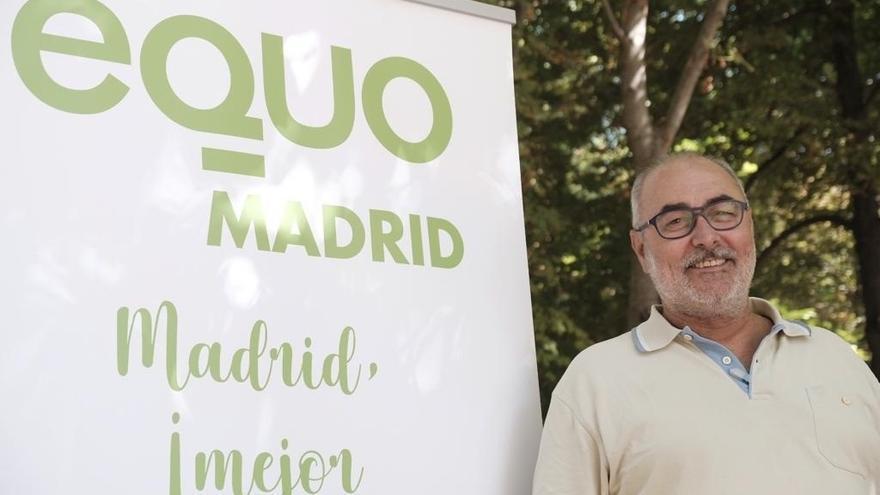 El candidato de Equo a la Comunidad de Madrid, Alejandro Sánchez, en una imagen de archivo.