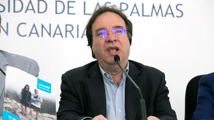 El presidente UNICEF Canarias, Amós Garía