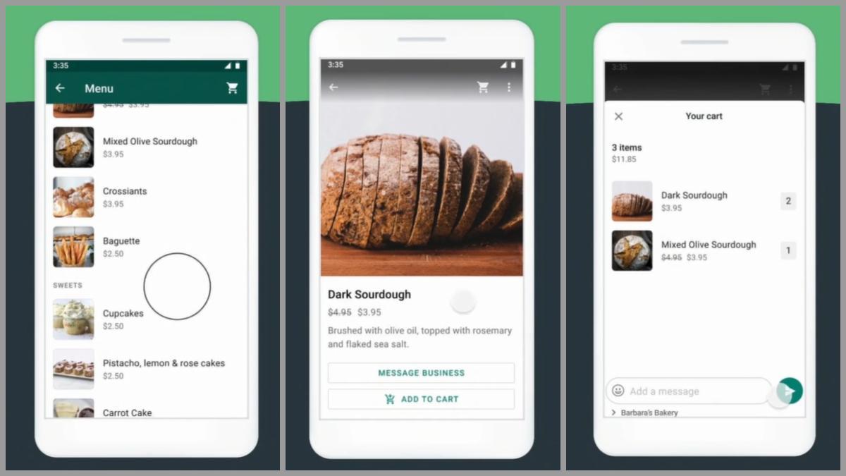 Nuevas herramientas de selección de productos y pago de WhatsApp