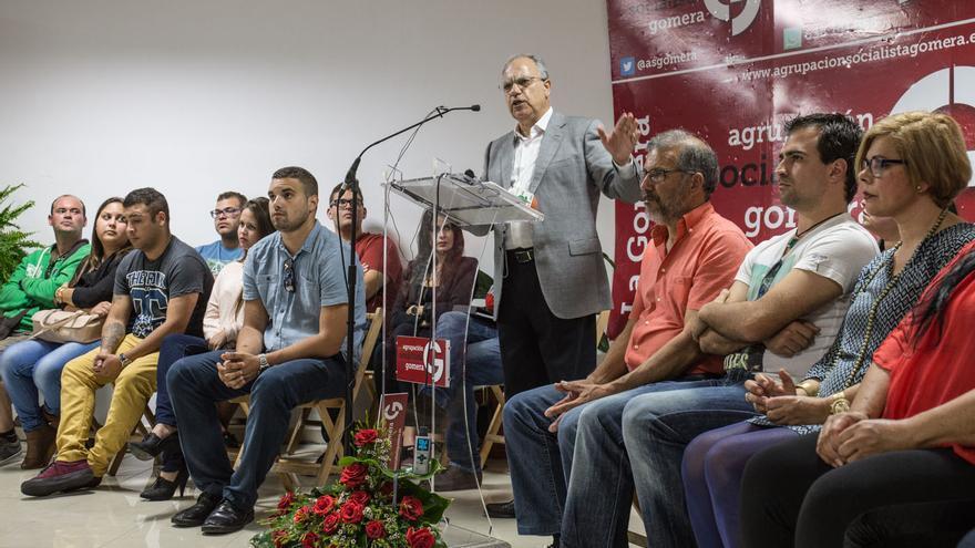 Casimiro Curbelo, en el acto de presentación de su nuevo partido