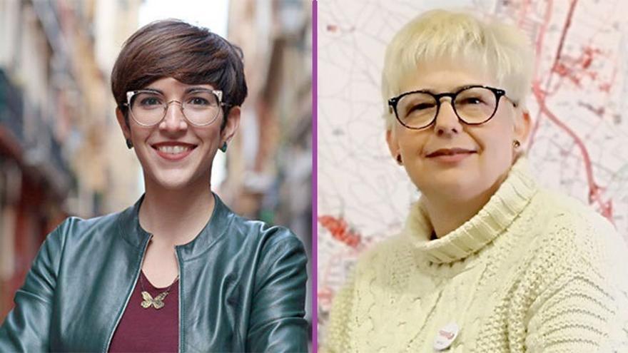 Violeta Barba y Pilar Vaquero encabezan las dos candidaturas que se presentan a las primarias de Podemos al Ayuntamiento de Zaragoza