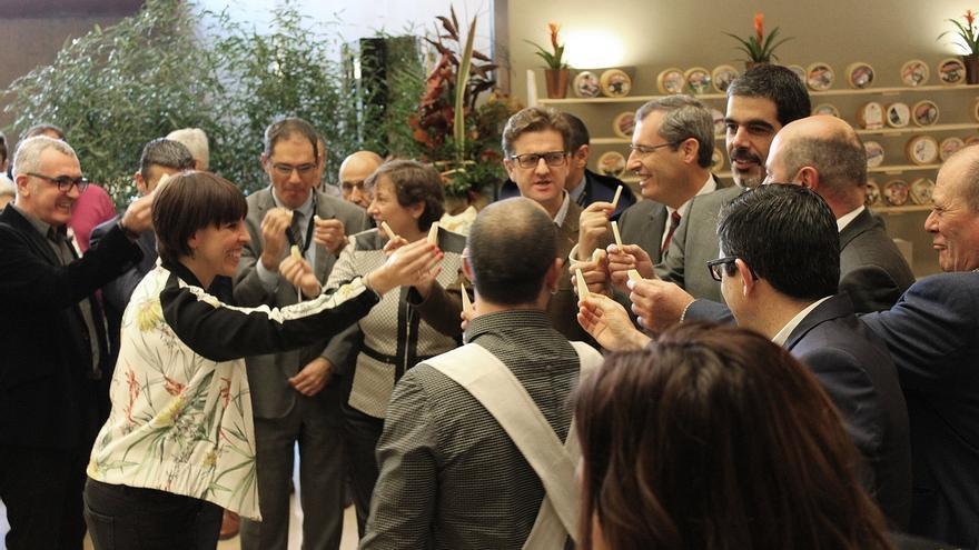 Representantes institucionales inauguran el International Cheese Festival, que elige al mejor queso del mundo