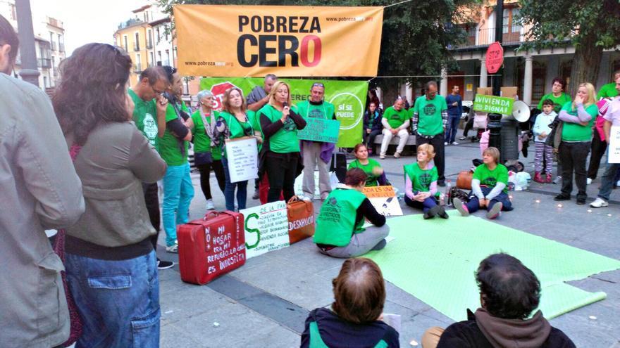 Protesta de la Alianza contra la Pobreza en Toledo / Coordinadora ONGD