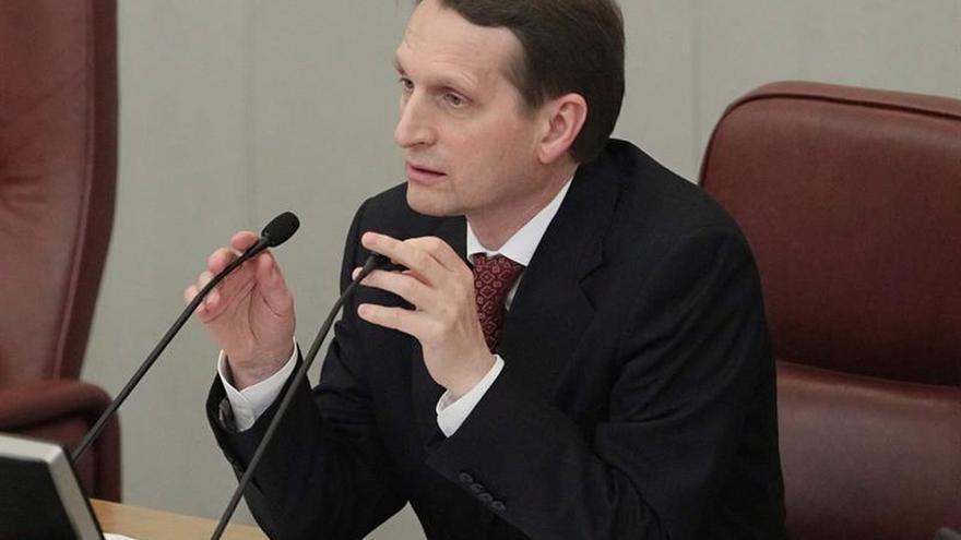 El presidente de la Duma deja el cargo para dirigir el servicio de espionaje exterior