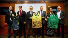 Presentación de la camiseta de la entidad aurinegra para la Copa del Rey y la Intercontinental