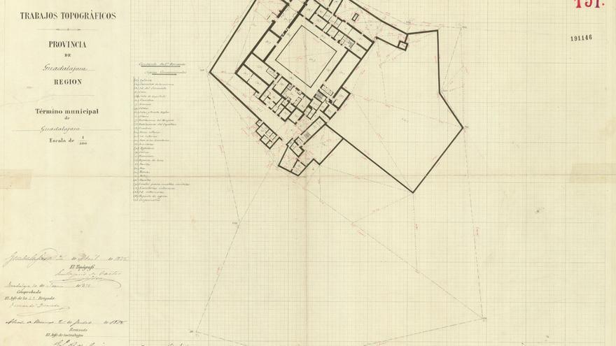 Plano del convento de San Bernardo (Bernardas) utilizado como Campo de Concentración en 1939