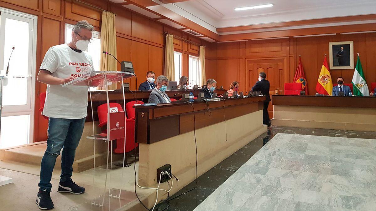 Intervención en defensa de los trabajadores de Pan Recor en el Pleno municipal.