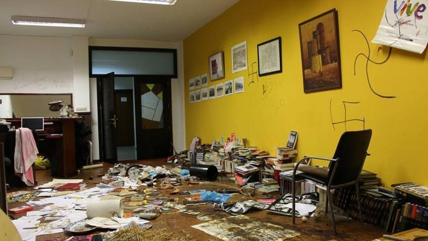 El despacho de Gustavo García, tras el ataque