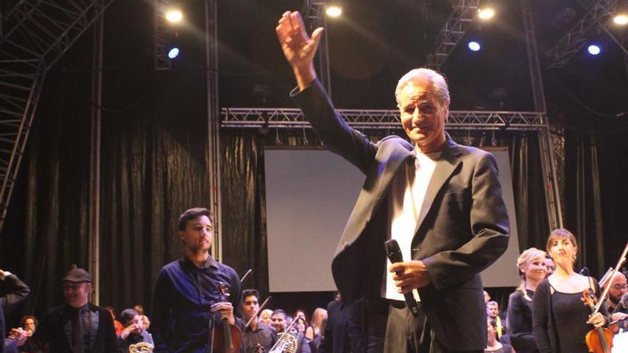 Luis Morera se sintió arropado por el público palmero.