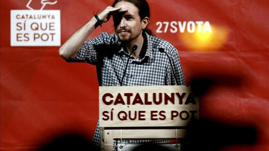Pablo Iglesias, en un acto de Catalunya Sí que es Pot.