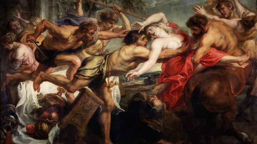El rapto de Hipodamía, de Pedro Pablo Rubens