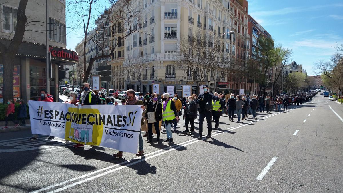 Manifestación Casa Cultura 21 marzo - vista general