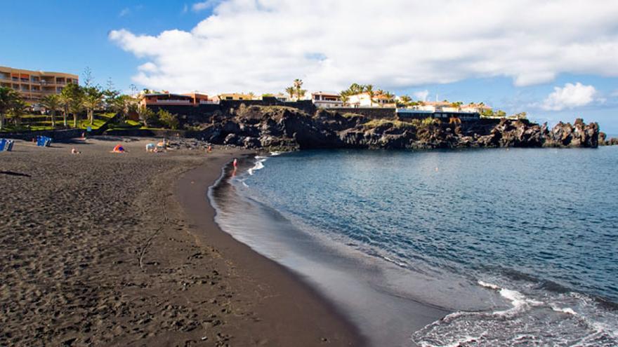 Playa de la Arena, en una imagen de archivo (costa de Santiago del Teide)