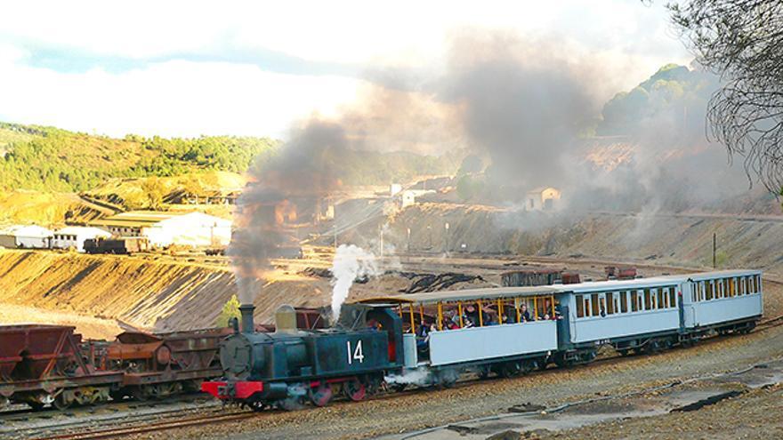El tren de vapor de las Minas de Riotinto