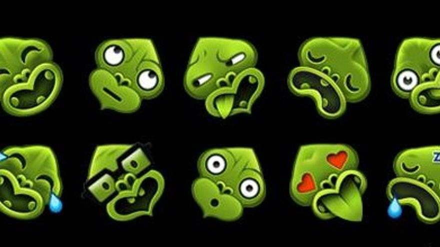 Algunos de los emoticonos de Emotiki, adaptados a la cultura maorí para divulgarla (Imagen: Emotiki   Facebook)