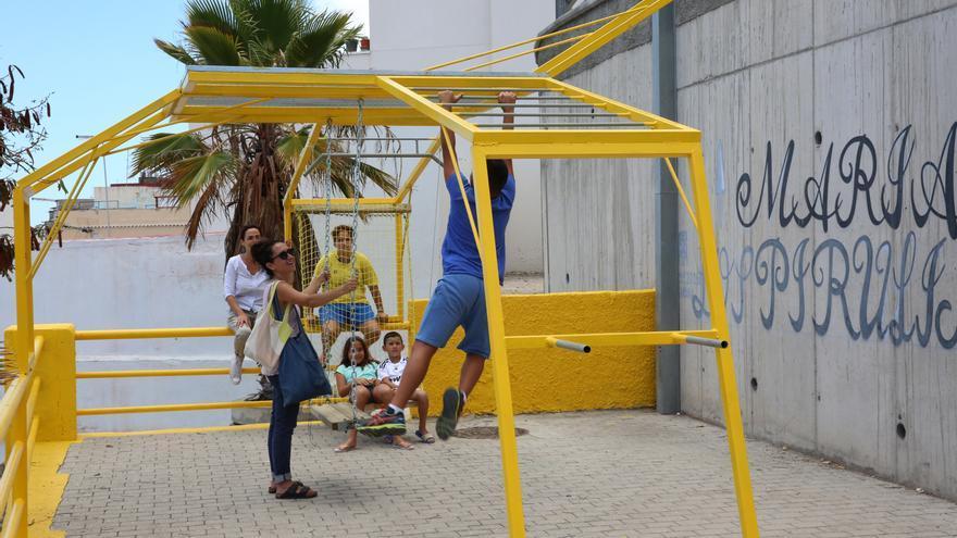 Actuación en el Risco de San Nicolás tras el encuentro Arquitecturas Colectivas
