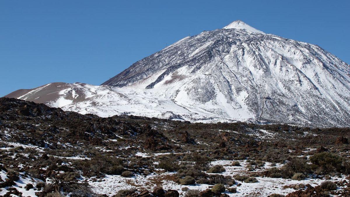 El Parque Nacional del Teide después de la nevada que dejó el temporal Filomena