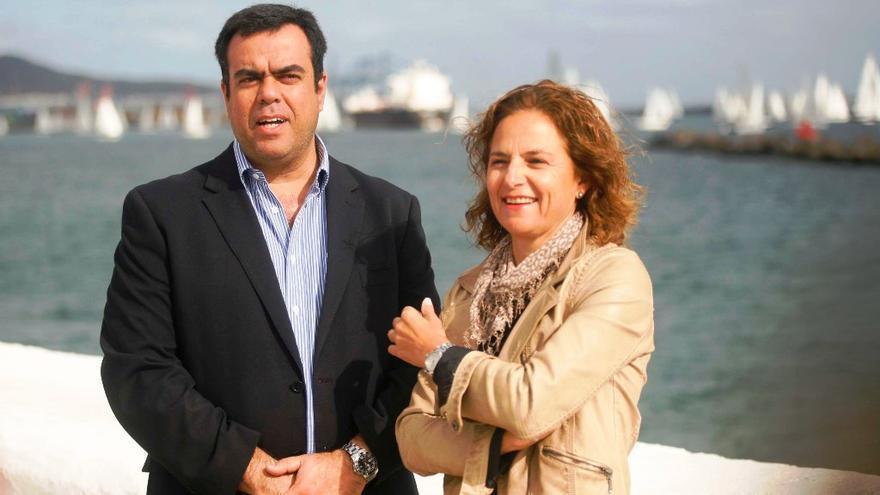 Melchor Camón y Mimi González, en la salida de la ARC 2014.