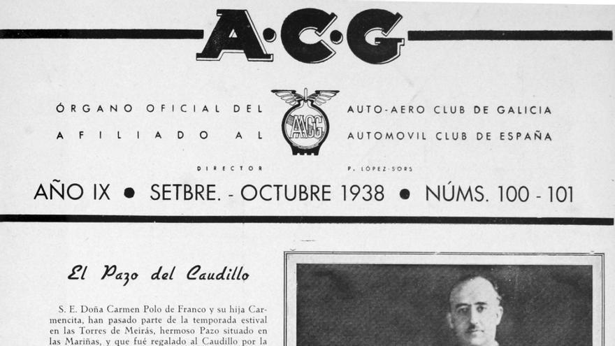 Publicación propagandística sobre la presencia de Franco en el Pazo de Meirás en 1938
