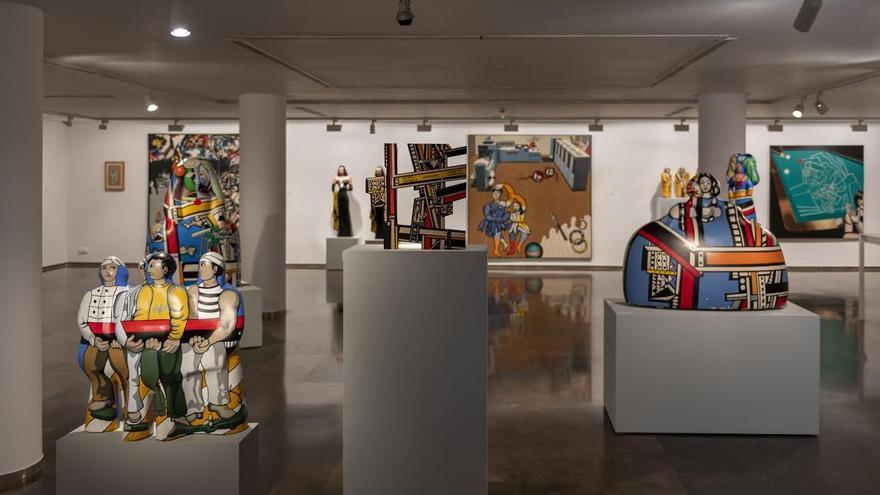La entrada a la sala de la exposición 'Caso de Estudio: Equipo Crónica, mirándose en el espejo de la vanguardia'