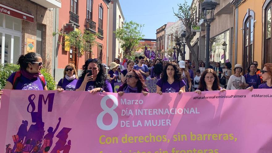 Manifestación celebrada este domingo en Los Llanos.