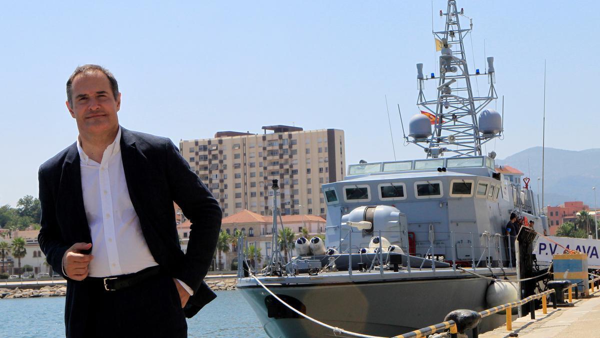 El director ejecutivo de la Agencia Europea de la Guardia de Fronteras y Costas (Frontex), Fabrice Leggeri, en el puerto de Algeciras (Cádiz).