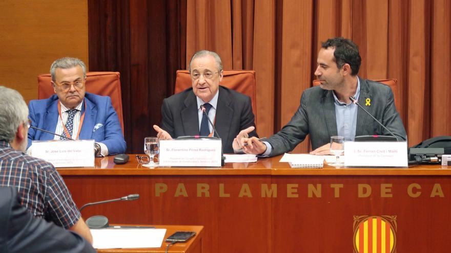 Florentino Pérez ha comparecido en la comisión de investigación sobre el Castor