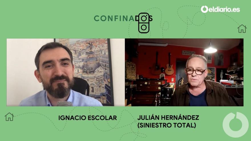 Ignacio Escolar entrevista a Julián Hernández, líder de Siniestro total.