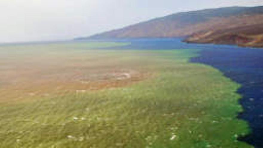 Imagen de la erupción volcánica de El Hierro.