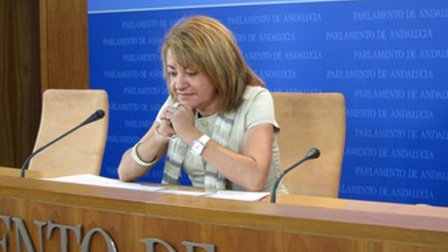 Antonia Moro, En Rueda De Prensa Tras La Comisión De Los ERE