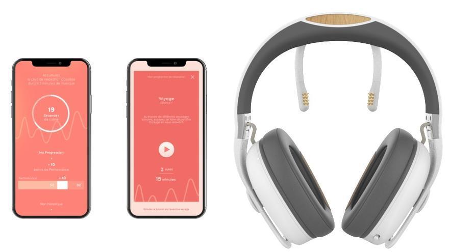 Melomind lee las ondas cerebrales y selecciona canciones para modificar el estado de ánimo en función de la voluntad del usuario, según su publicidad.