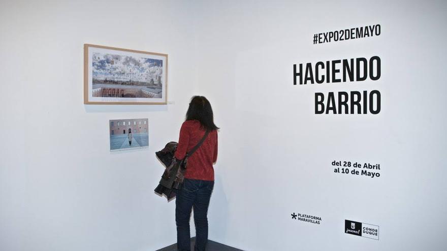 Un momento de la exposición Haciendo Barrio de 2018