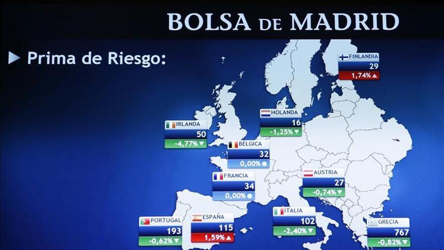 La prima de riesgo española abre al alza, en 125 puntos básicos