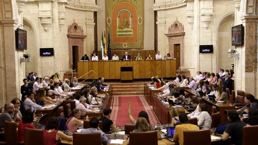 Pleno del Parlamento de Andalucía.