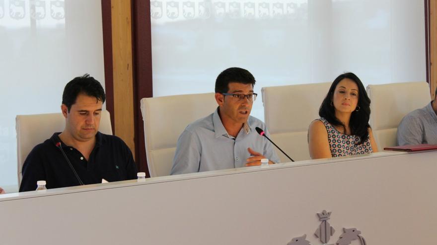 Jorge Rodríguez en un pleno del Ayuntamiento de Ontinyent