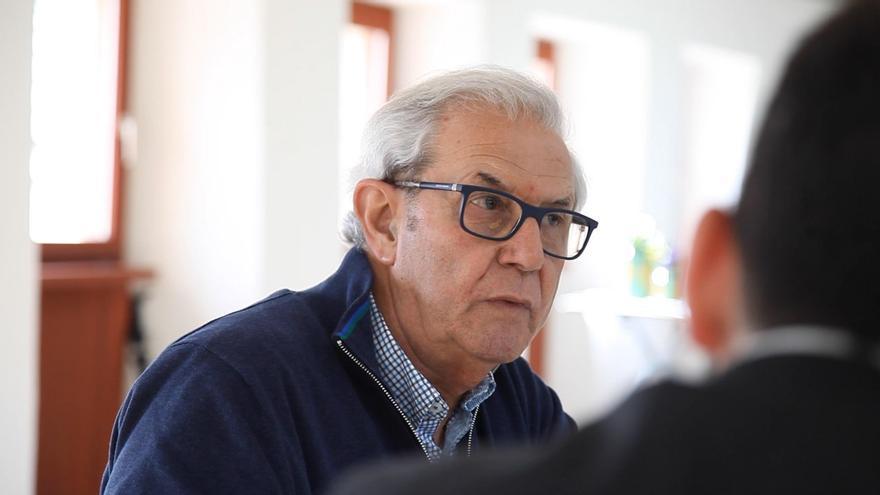 Emilio Pérez Touriño durante la entrevista con eldiario.es