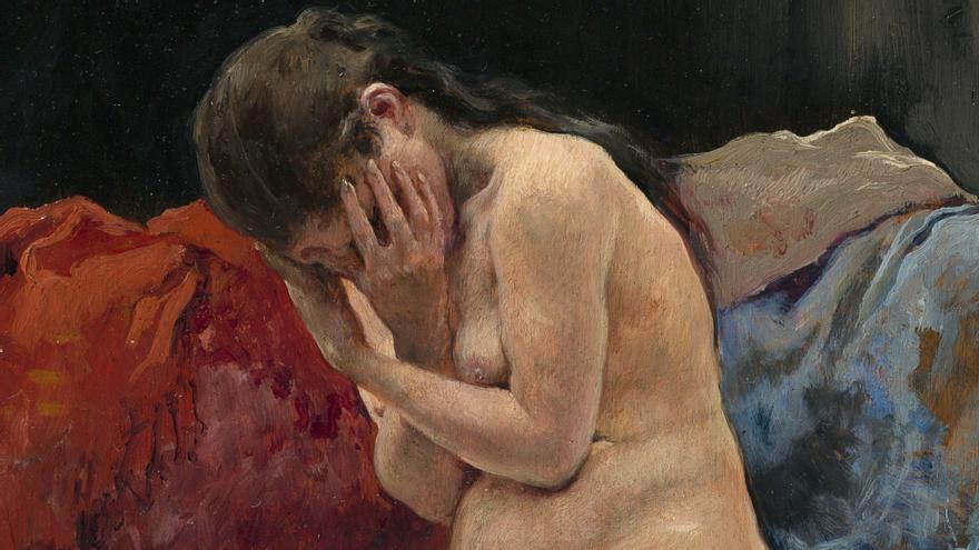 Recorte de 'Desnudo de mujer' (1885), de José Jiménez Aranda.