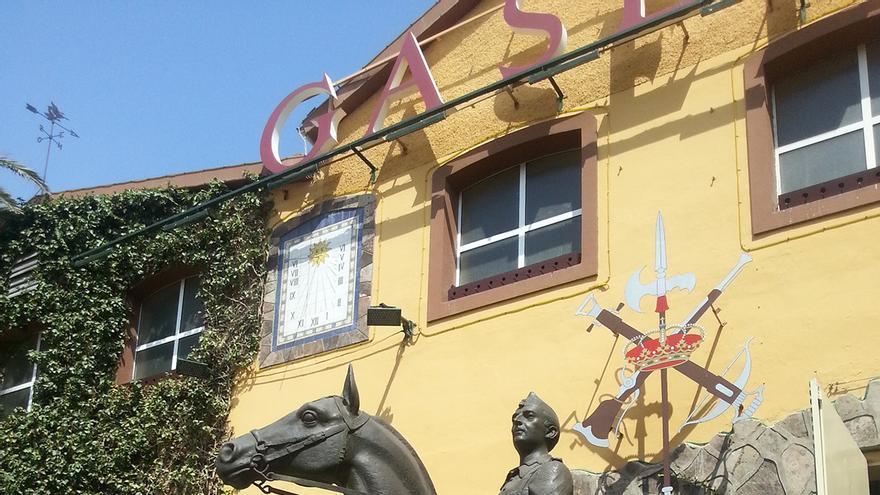Estatua ecuestre de Franco, expuesta en la Fundación Gaselec.