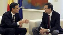 Sánchez y Rajoy, en un encuentro en La Moncloa.