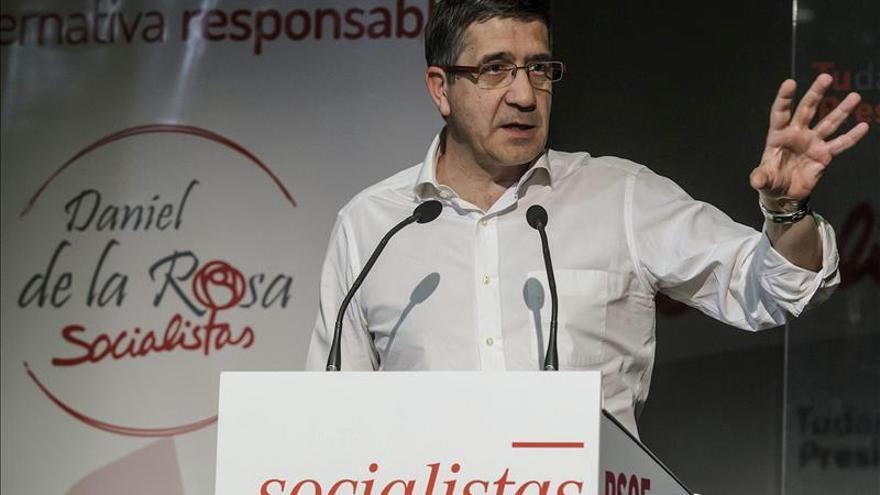 """Patxi López critica que la Junta esté """"bloqueada"""" por quienes quieren la Moncloa"""